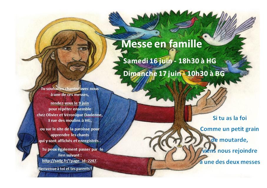 Messe en Famille du dimanche 17 juin 2018