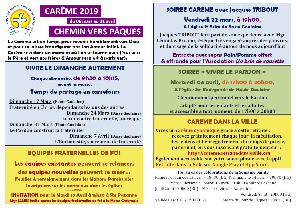 Carême 2019